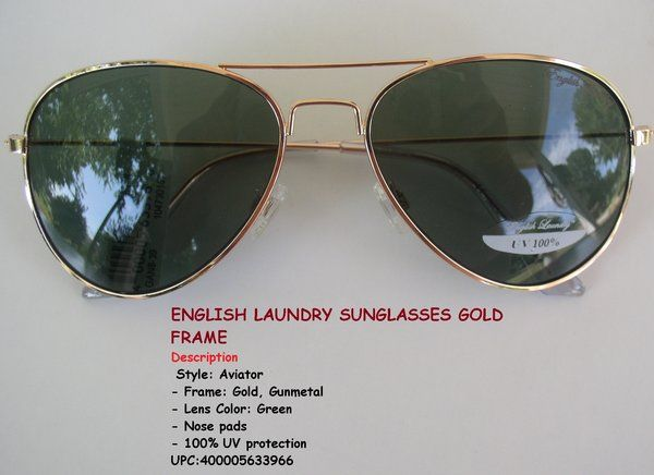 4b8b377c09 English laundry sunglasses gold frame