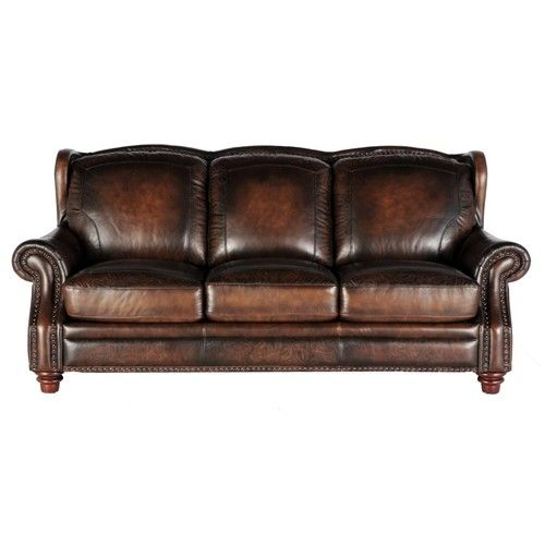Leather Sectional Sofa Orlando Fl: 7065 Traditional Leather Sofa With Nailheads By Futura