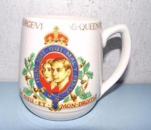 Art Deco Royal Commemorative Coronation George VI+Queen Elizabeth 1937 in Pottery, Porcelain & Glass, Pottery, Commemorative Ware | eBay
