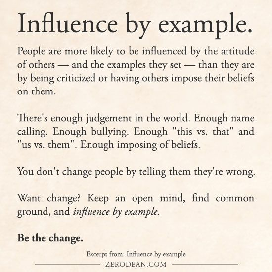 Excerpt from: Influence by example