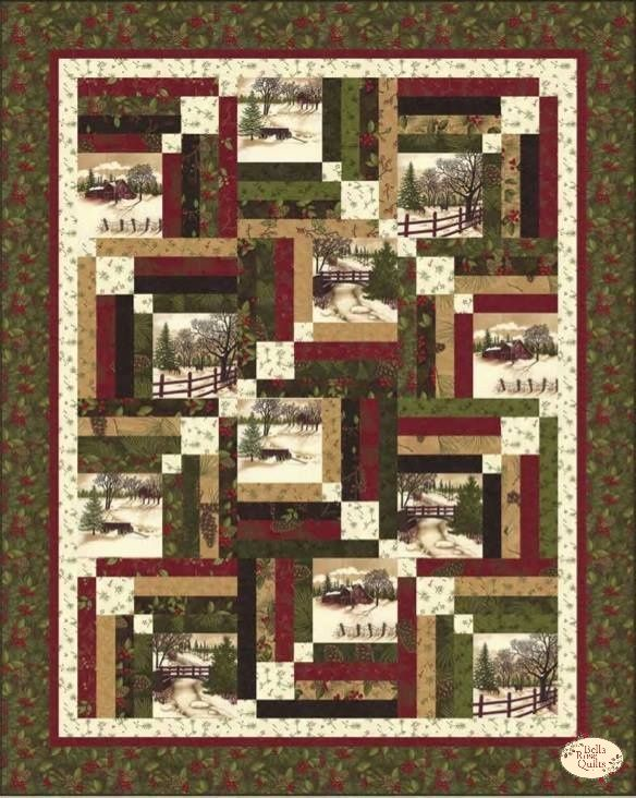 Through The Winter Woods Memory Lane Quilt Kit Quilting