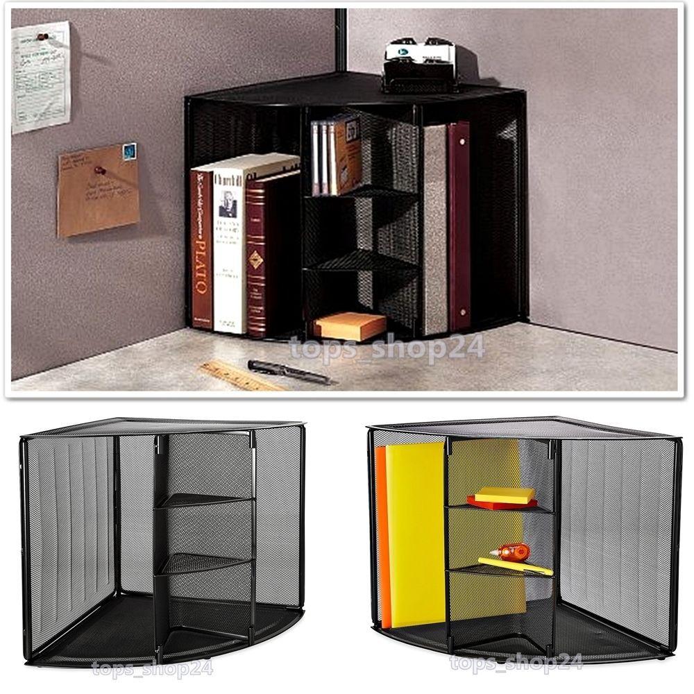 office storage shelves document desk wall organizer mesh corner rh pinterest com corner desk with shelves corner desk top shelf