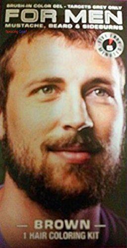 For Men Mustache Beard Sideburns 5 Minute Color Brown Targets Grey ...