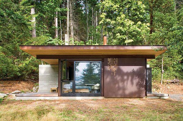 planos de casas modernas en el bosque