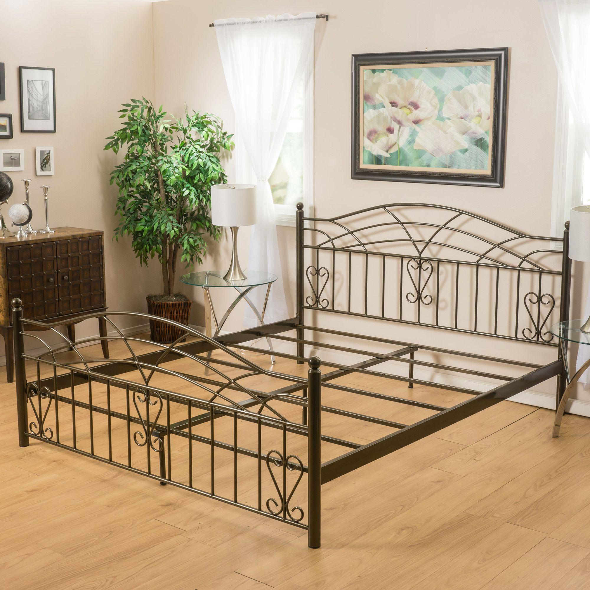 Salesville Standard Bed Bed frame, Metal beds, King bed