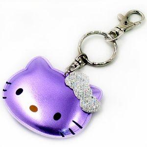 Hello Kitty Purple Crystal Keychain | Hello Kitty Sparkle Key Chain Purple/Silver