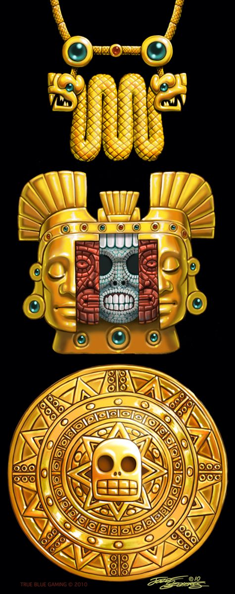 Aztec Gold Artifacts.Szekeres by Jozef-Szekeres on DeviantArt