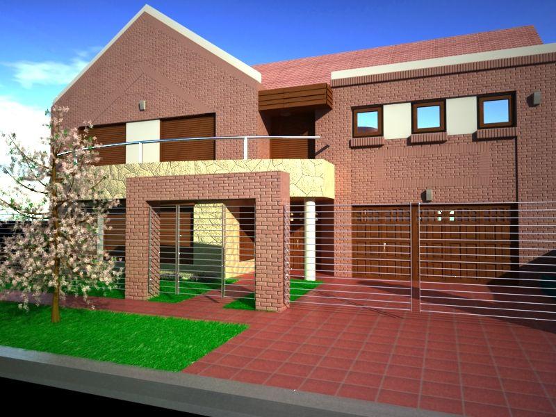 Frentes de casas modernas con rejas frentes de casas for Frentes de casas minimalistas fotos
