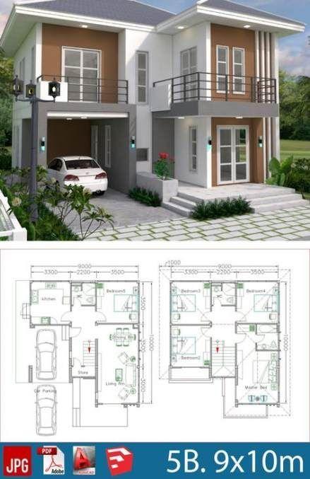 26 Ideas Small Bedroom Furniture Layout Floor Plans Duplex House Plans Model House Plan Duplex House Design