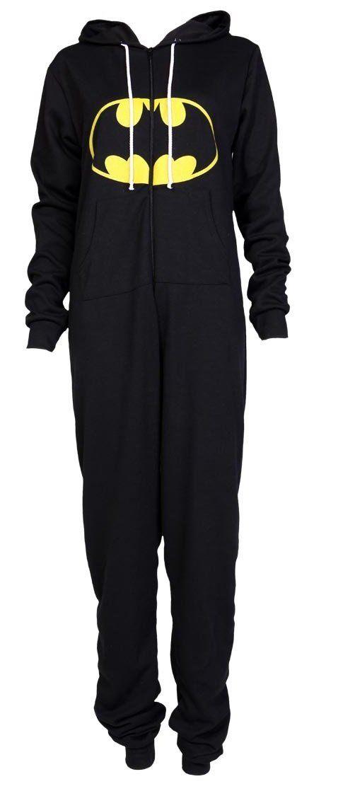 DC Comics I Am Batman Womens Hooded Romper Pajamas