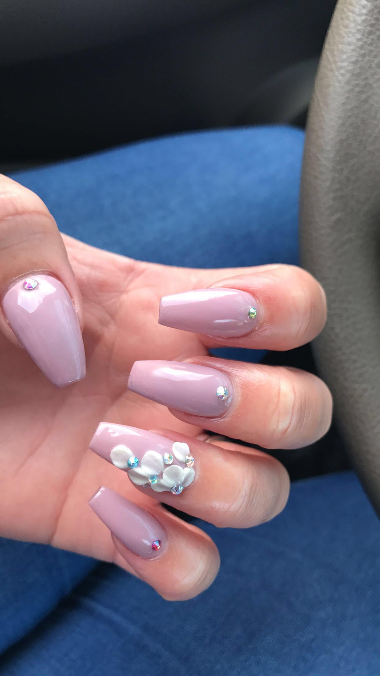 Cute Acrylic Nails With Rhinestones   www.pixshark.com ...