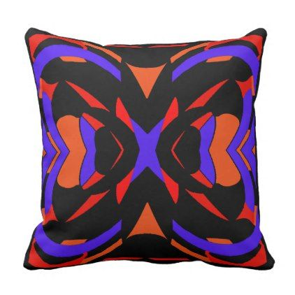 Modern Pillow-Home -Women -Purple Red Orange Black Throw Pillow - fun gifts  funny diy customize personal 5859dea63