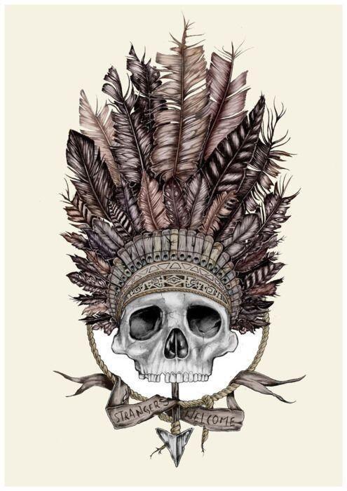 Apache Skull Tattoo 2 Tattoos Tattoo Designs Skull Tattoos