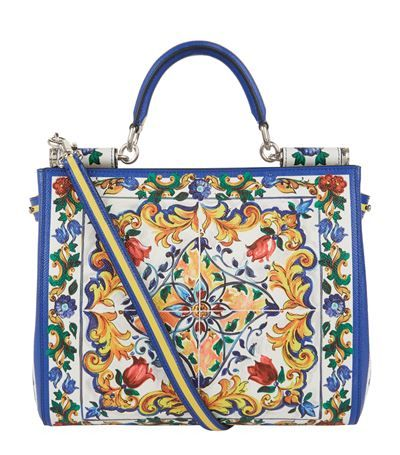 2d760e10ad DOLCE   GABBANA Sicily Majolica Print Shopper Bag.  dolcegabbana  bags   shoulder bags  hand bags  travel bags  leather  weekend
