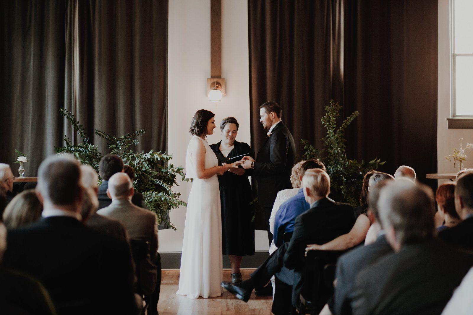 Sydney & Aaron's Modern, Minimalist Wedding at Bridge Club