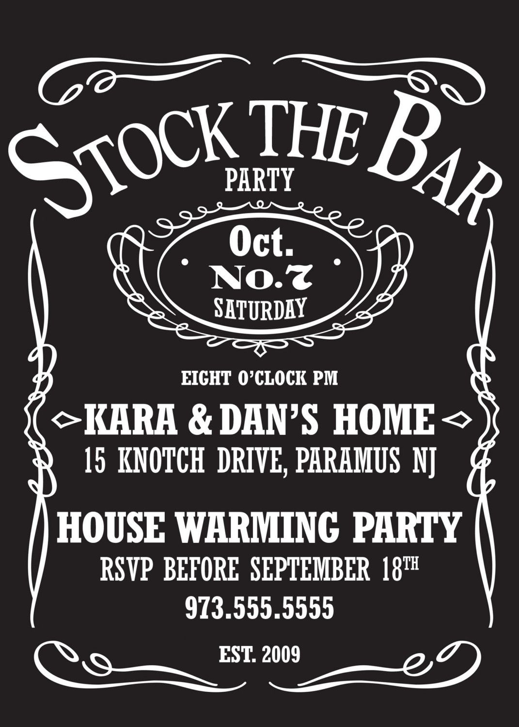 Stock The Bar Party For A Wedding Shower Perhaps Boys Everyone