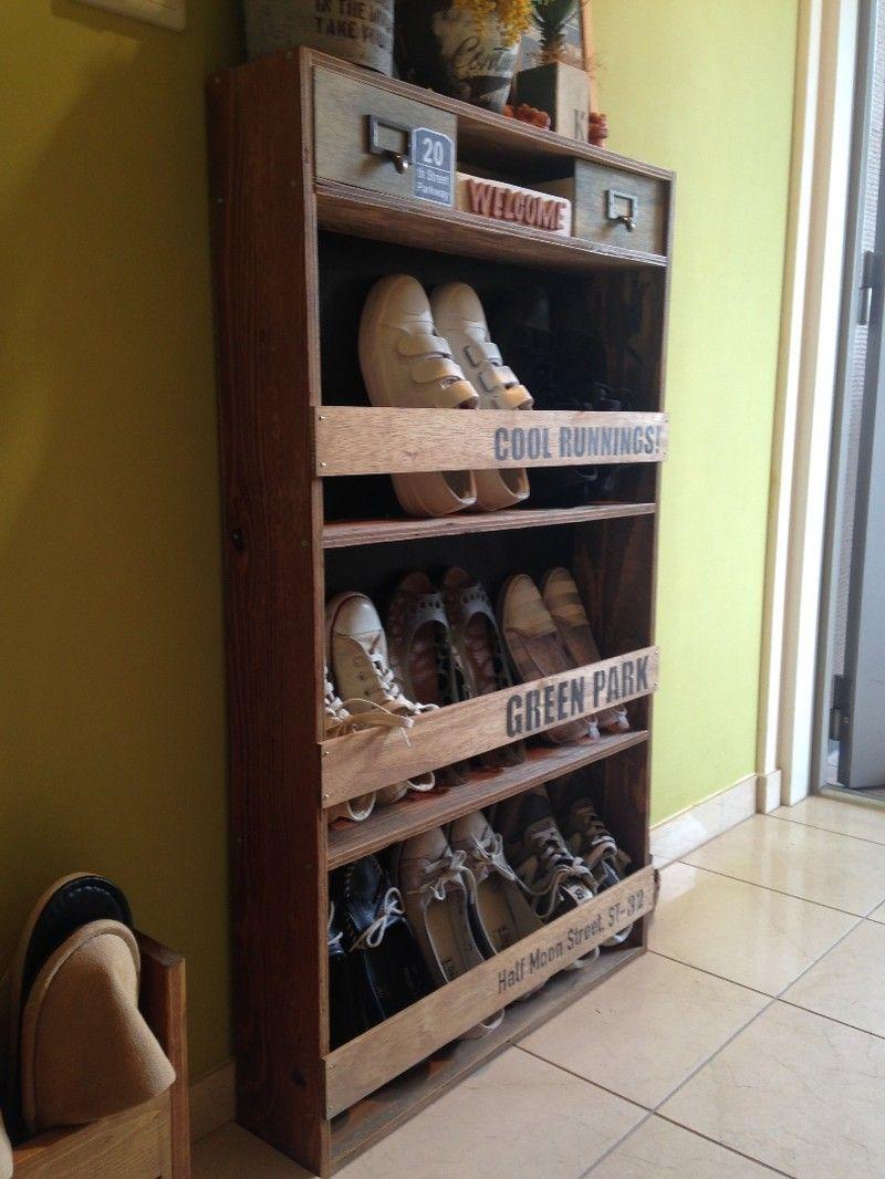 幅の狭い玄関に靴の収納を!