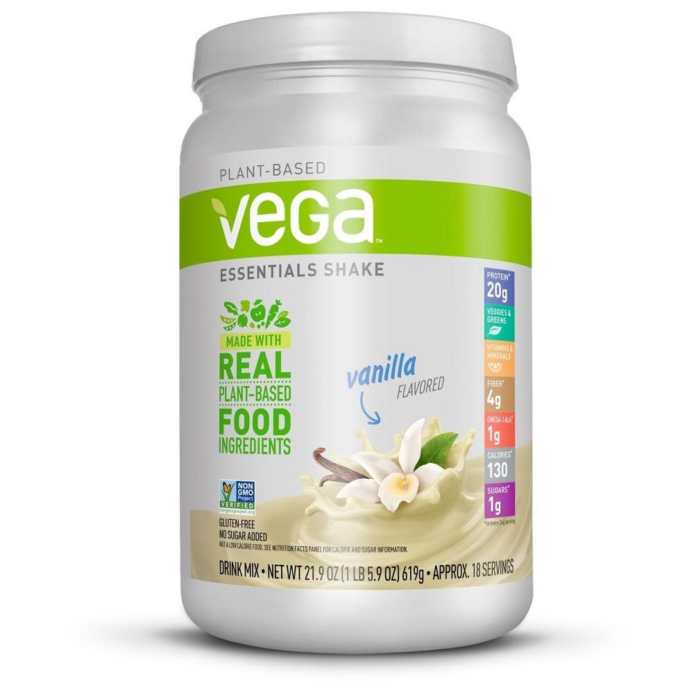 Vega Essentials Vegan Nutritional Shake Powder Vanilla 21 9oz Nutrition Shakes Plant Protein Powder Plant Based Protein Powder