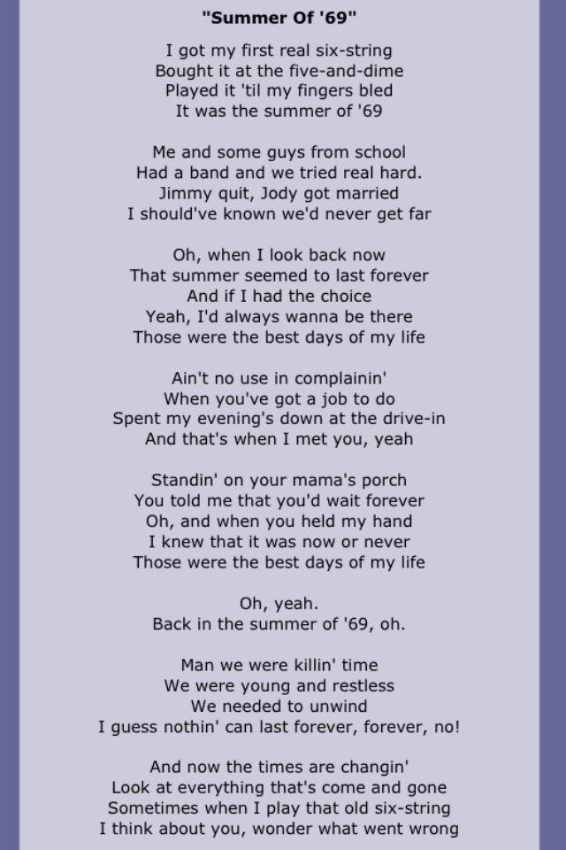 Bryan adams love song lyrics