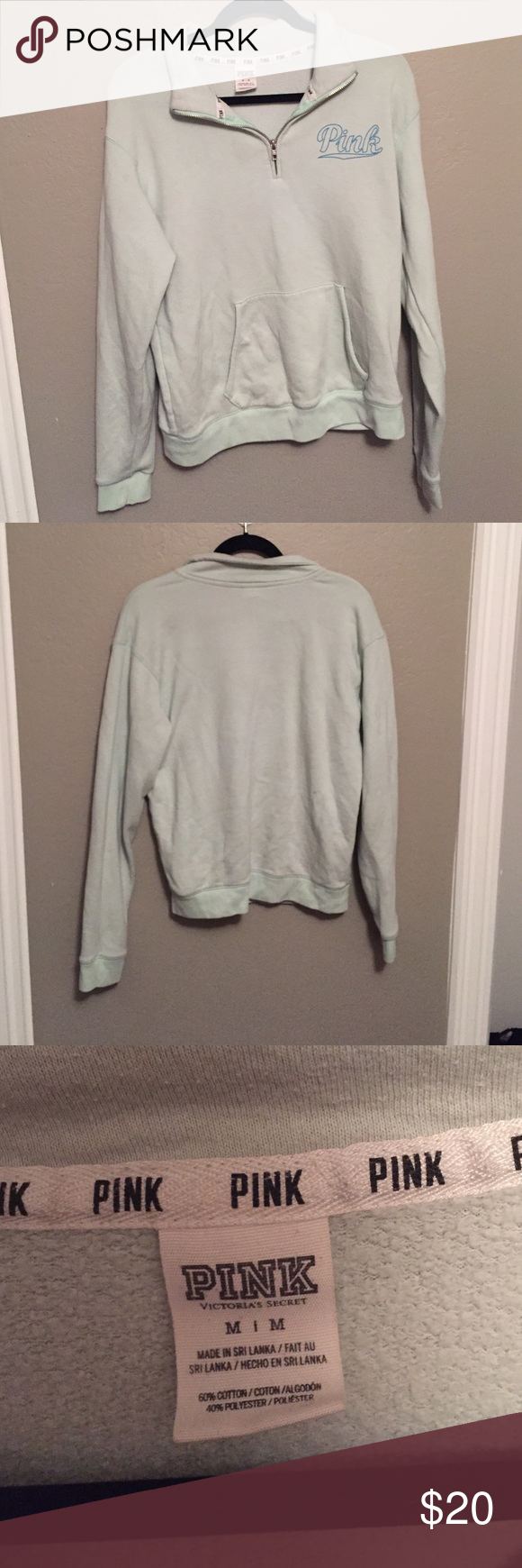 Victoria's Secret Pink sweater Light green sweater from Pink! So ...