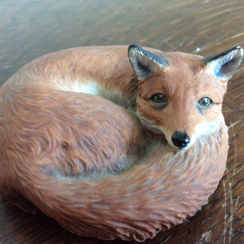 Vintage Aynsley Bone china Red Fox figurine Made in