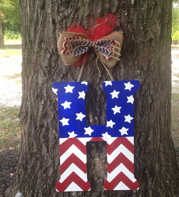July 4th Door Hanger July 4th Decoration by jgcreationsbyjg, $30.00