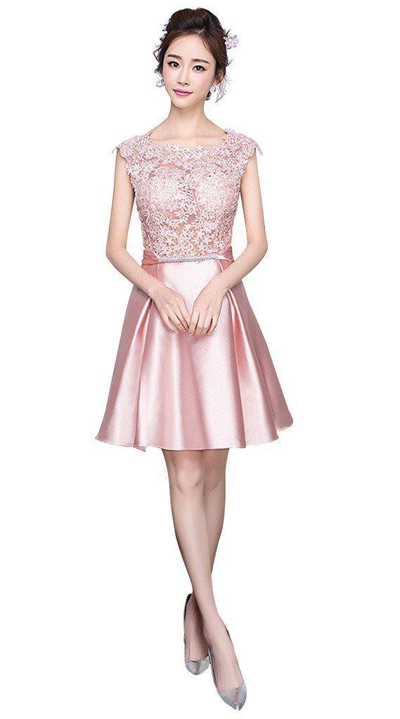 2450b5235 Vimans Womens 2016 Elegant Short Scoop Bridesmaid Evening Dresses ...