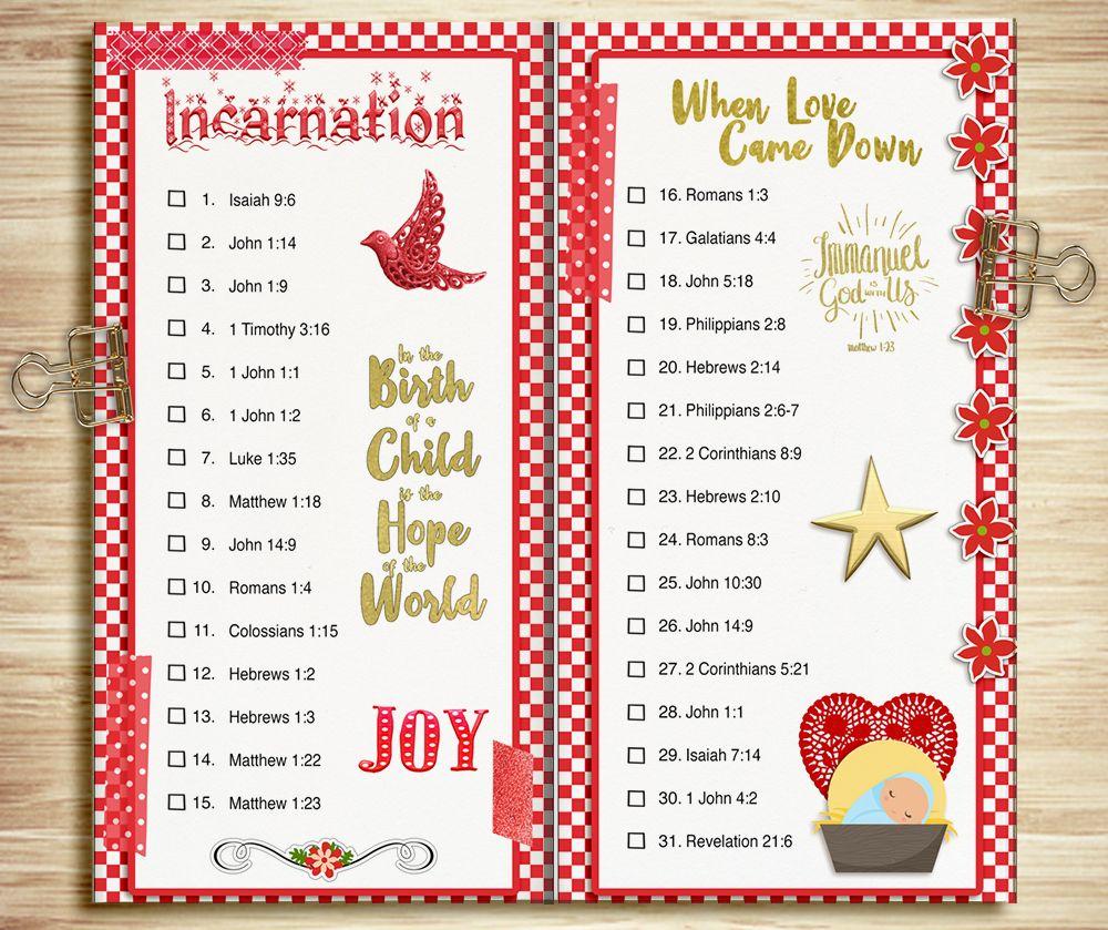 Free Printable Bible Prompts Christmas Incarnation Jesus Birth ...