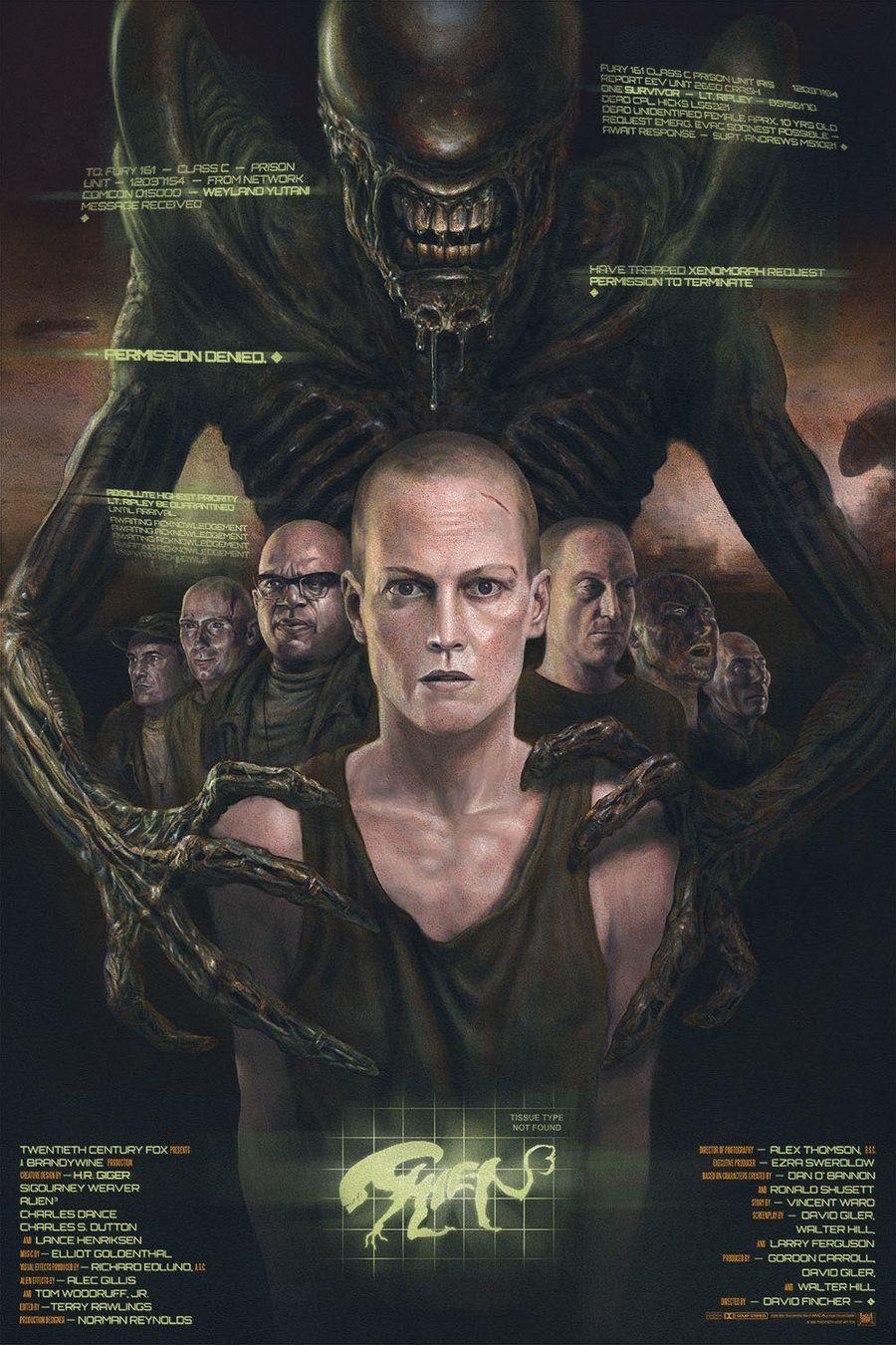 Alien 3 By John Barry Ballaran Alternative Movie Posters Aliens Movie Movie Posters