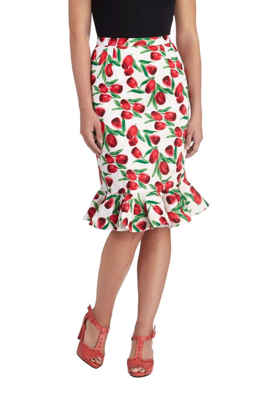 648969423 Artisan Introduction Leather Heel | Apparel | Skirts, Fashion, ModCloth