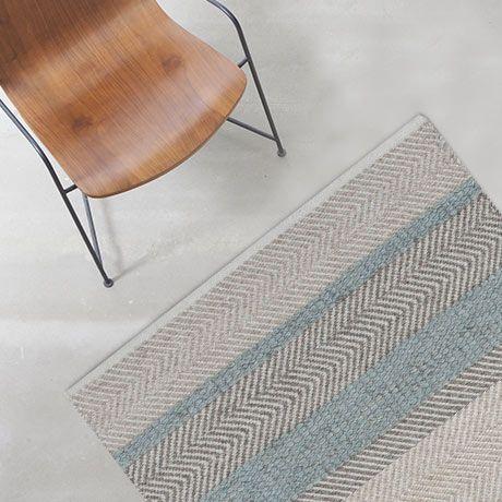 Teppich 140x200  140x200 Norwich Teppich - Blau - von Linie Design | Wohnen ...