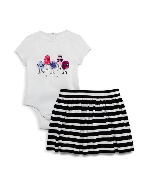 kate spade new york Infant Girls' Monster Bodysuit & Skirt Set - Sizes 12-24 Months
