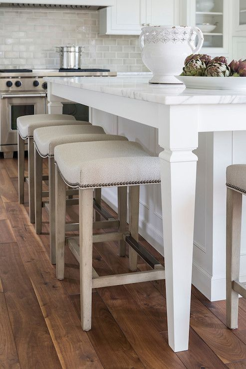 Kitchen Island With Tapered Legs Stools For Kitchen