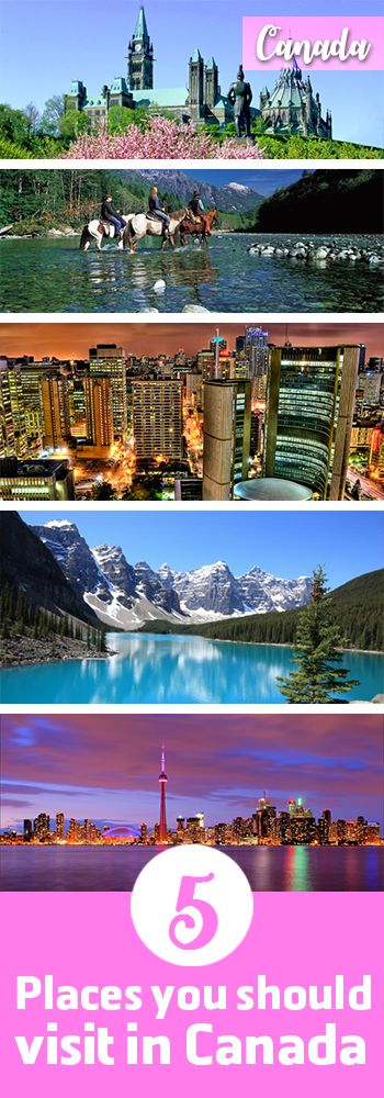 Top 5 places that you should visit in Canada