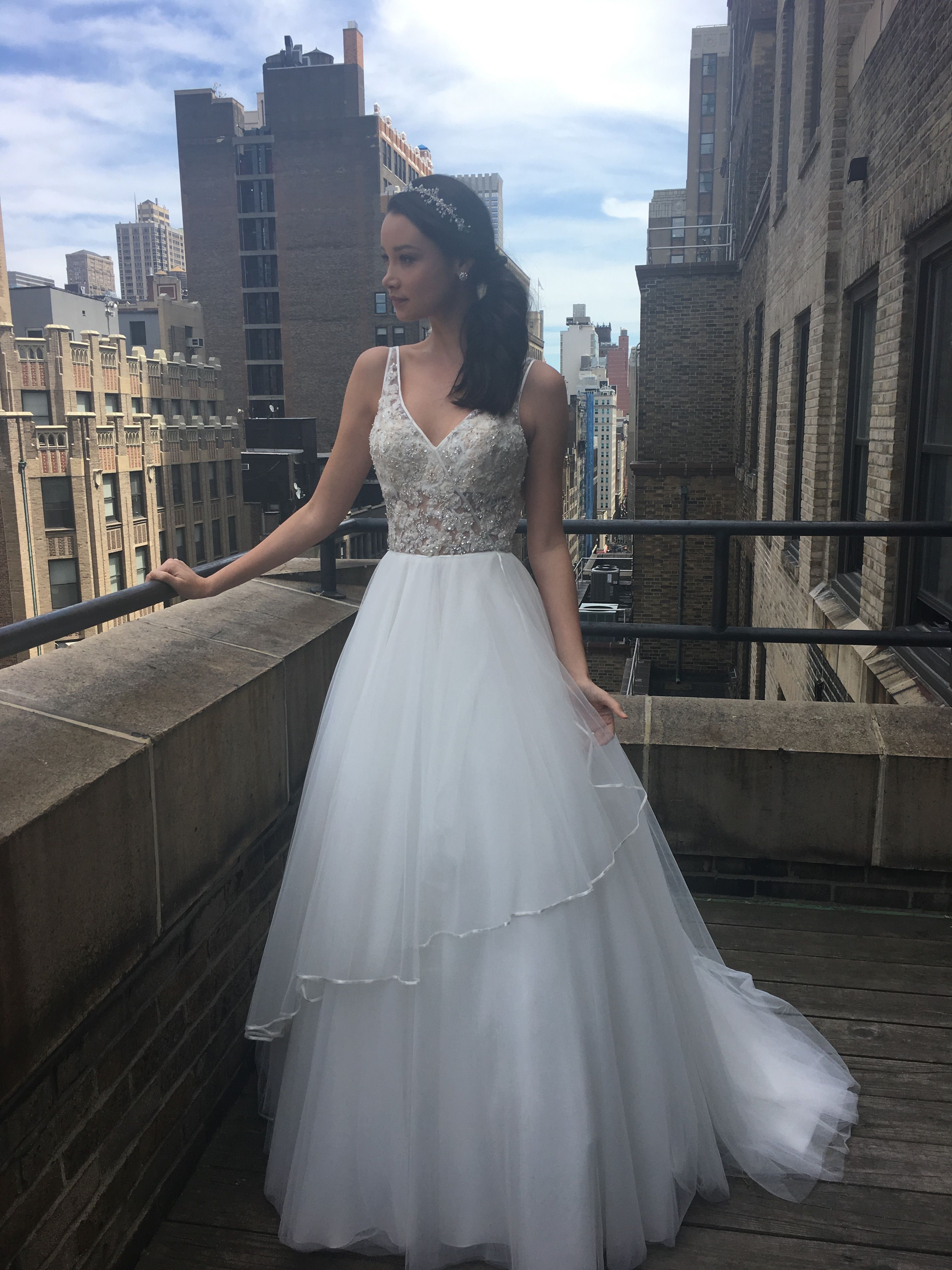 Morilee by Madeline Gardner Miya Wedding Dress. A Boho Ball Gown ...