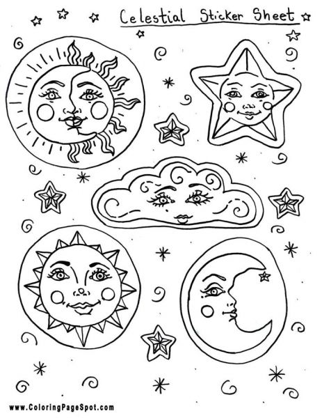 celestial coloring pages - photo#15