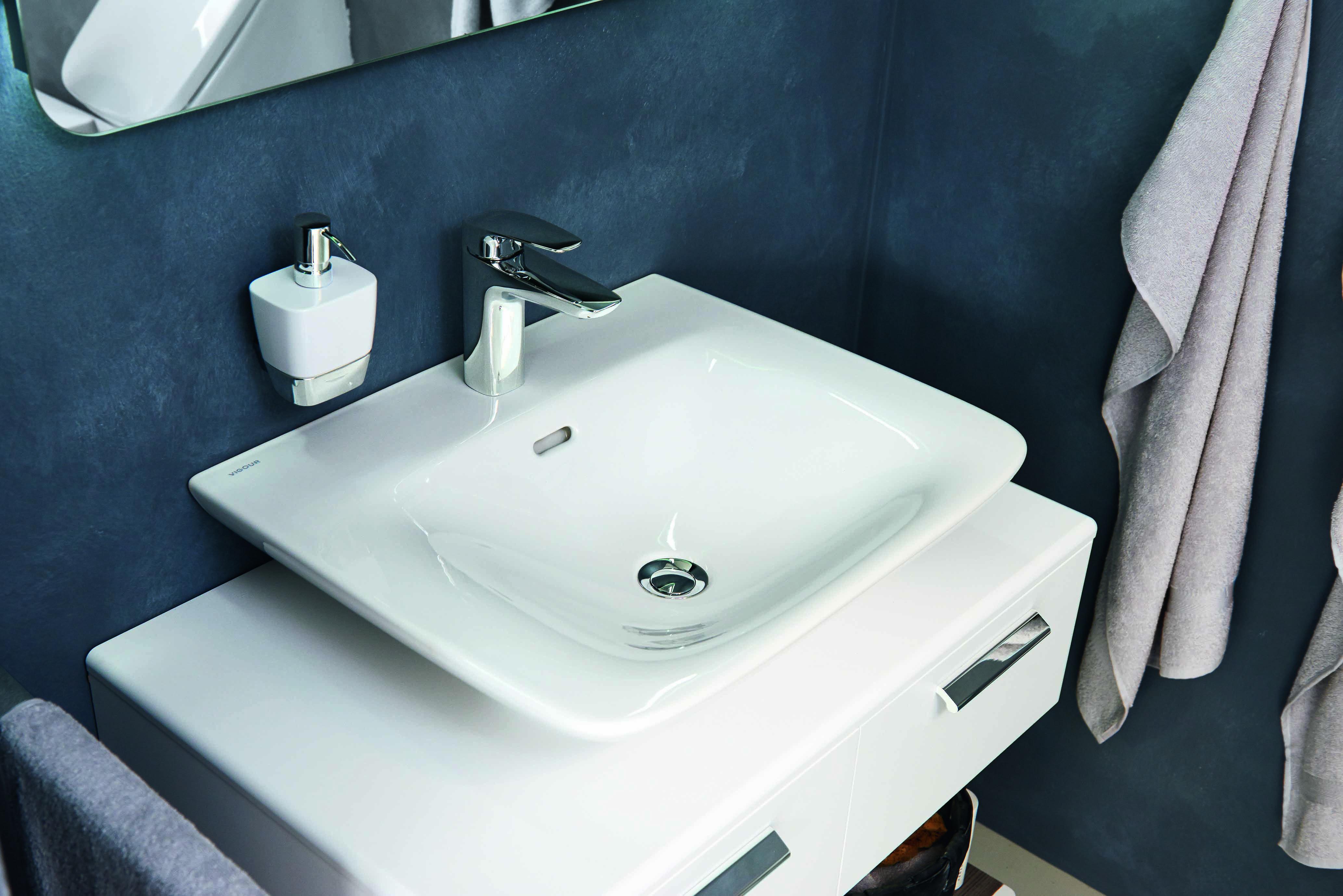 vigour white waschtisch waschtische waschtisch w sche und tisch. Black Bedroom Furniture Sets. Home Design Ideas