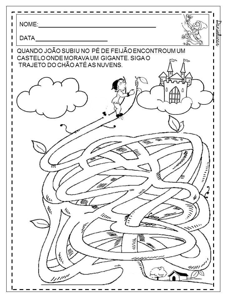 Atividades Do Joao E O Pe De Feijao Com Imagens Feijao