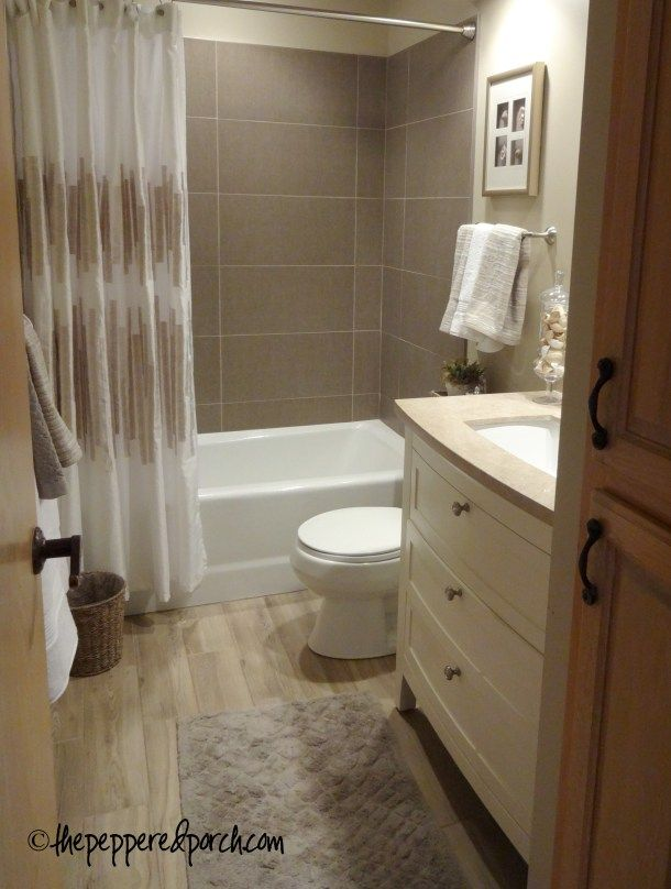 I Love The Driftwood Look Tile Floor And The Entire Color Scheme Bath Remodel Bathroom Plans Small Bathroom