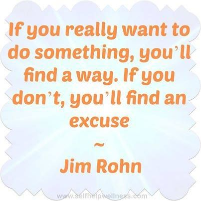 If you really want to do something, find a way...  please read and Re Pin