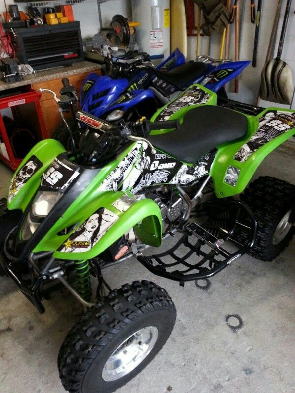 Kawasaki Kfx 400 Atv Graphics Kit Kit By Fireblade Graphics And Signs Like Us On Facebook To See All Our Kits And To Purchase Them From Our Facebook Store