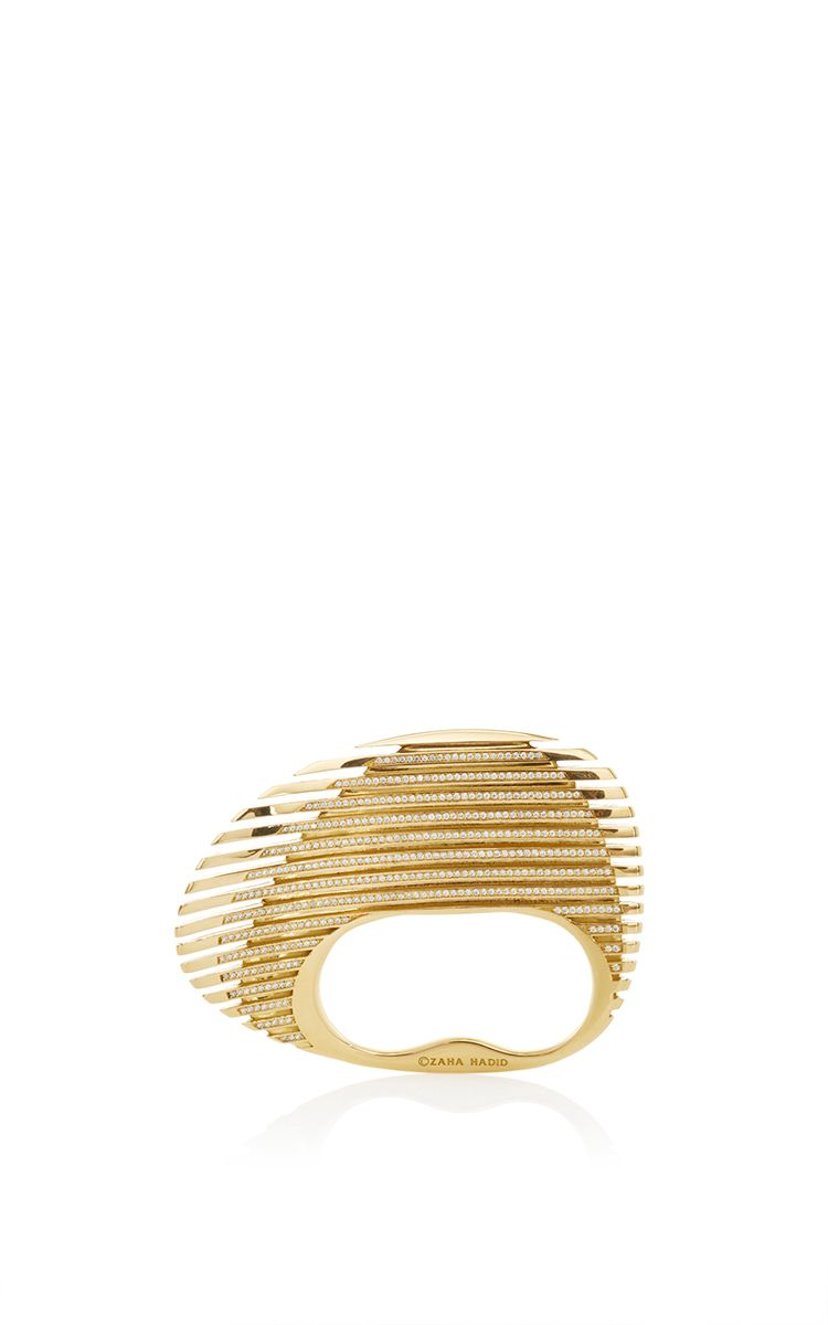 Lamellae Ring In Yellow Gold By Georg Jensen X Zaha Hadid For