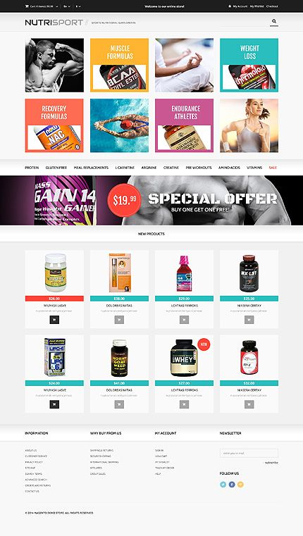 Template 48335 nutrition store responsive magento theme for Magento community templates