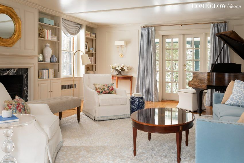 A Fresh Traditional Living Room Project Concord Shingle Style Reveal Home Glow Design In 2020 Traditional Living Room Shingle Style Formal Living Rooms