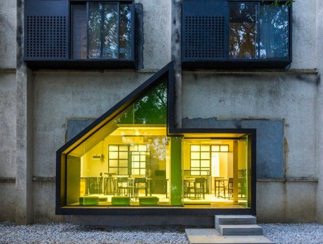 O-office Architects transform a factory dormitory into a modern youth hotel in Shenzhen | Inhabitat - Green Design, Innovation, Architecture, Green Building