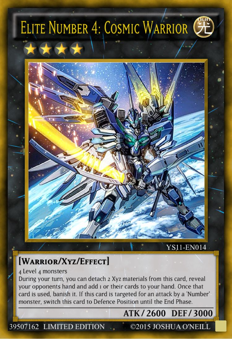 Elite number 4 cosmic warrior yugioh cards mega