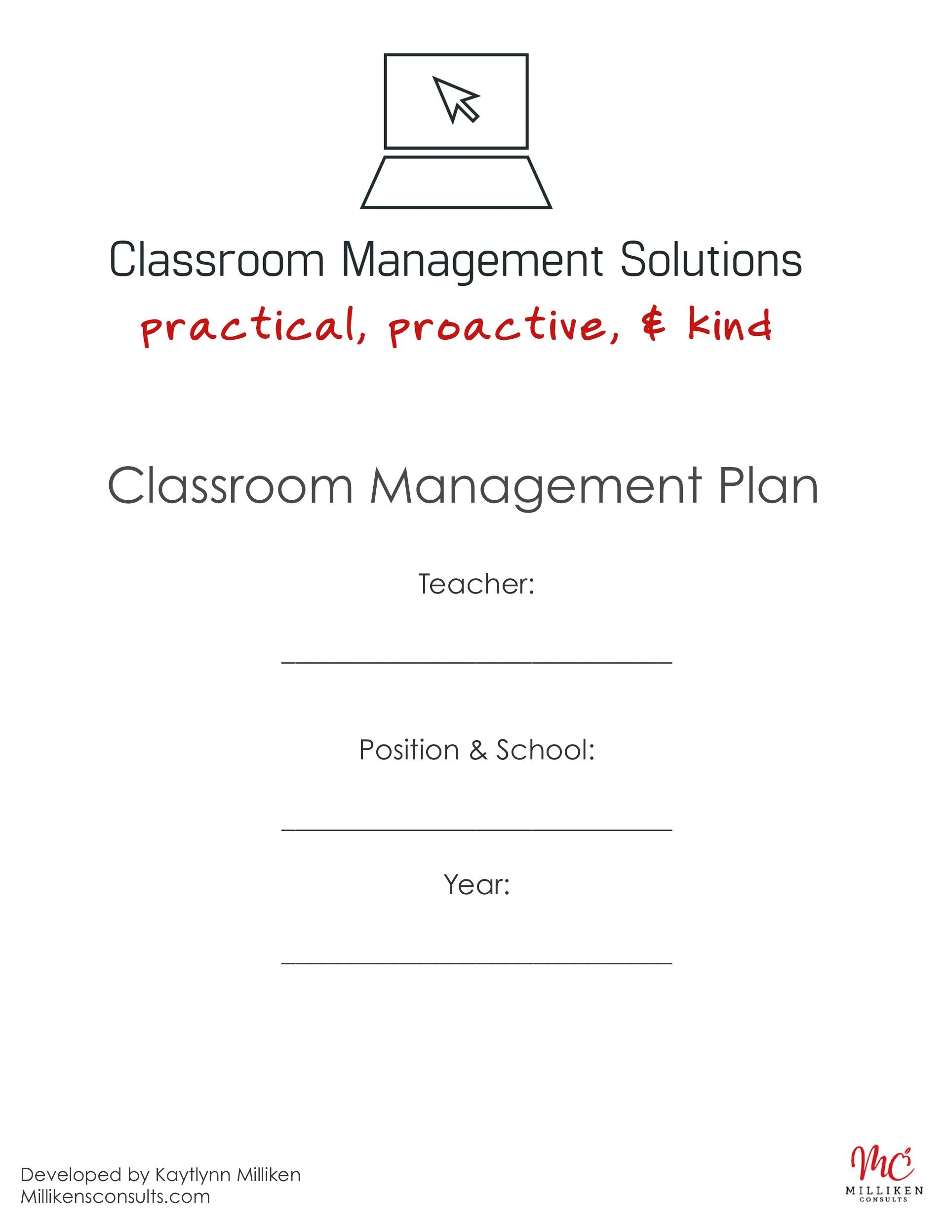 its time to make a plan download this free classroom management plan template