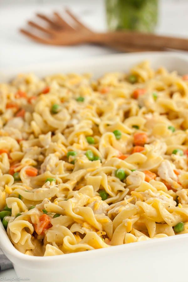 Chicken Noodle Casserole Recipe - Best ever chicken noodle casserole!