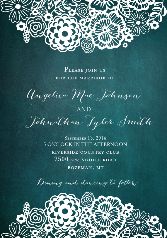 doily blooms invitations in blue in 2018 a wedding a world away
