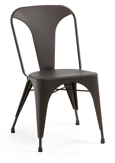 Laforma Krzesło Metalowe Malibu Czarne Dekoracje Wnętrz Pinterest